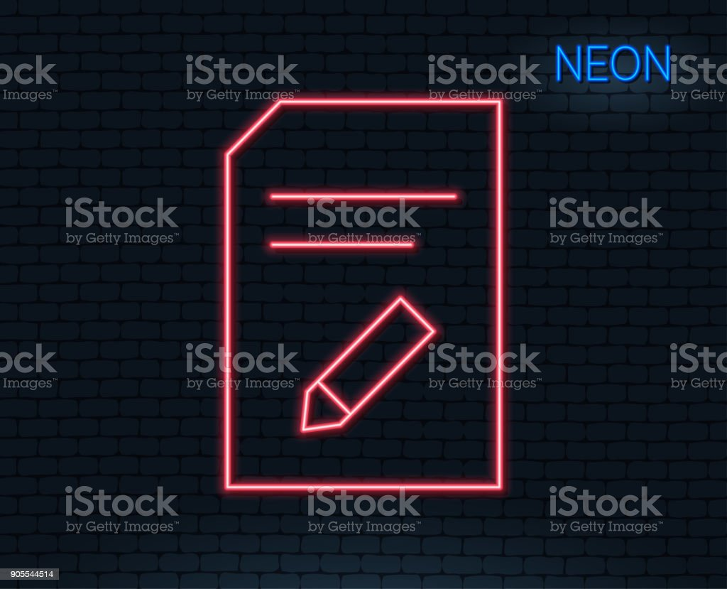 Edit Document line icon. File sign. vector art illustration
