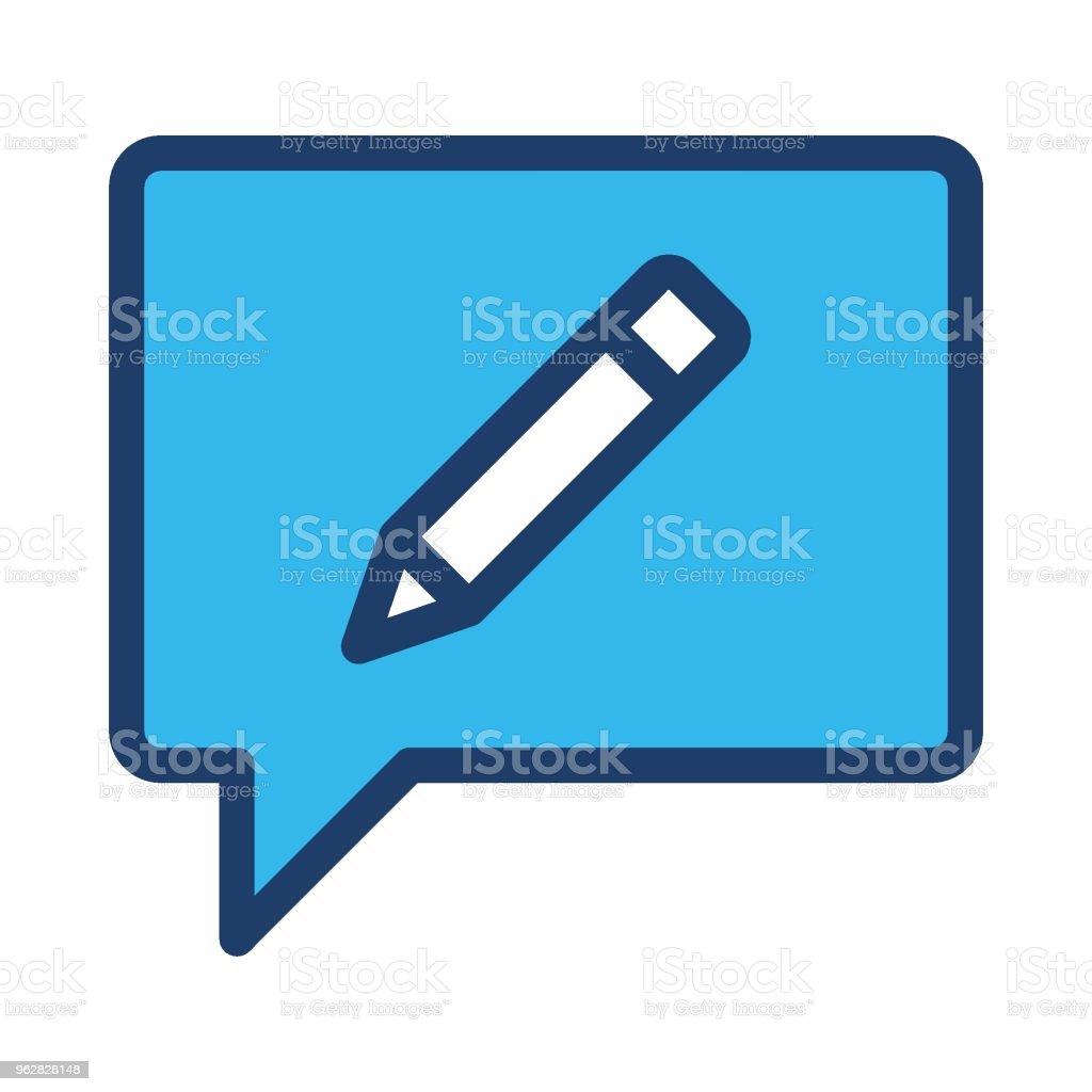 edit message - arte vettoriale royalty-free di Affari