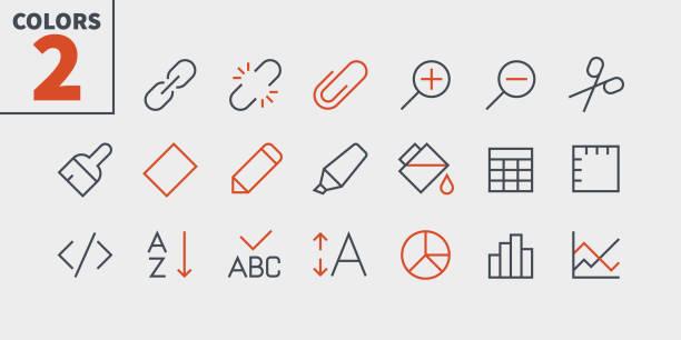 bearbeiten sie text pixel perfect well-crafted vektor dünne linie icons 48 x 48 für 24 x 24 raster für web-grafiken und apps mit editierbaren schlag bereit. einfach nur minimale piktogramm teil 4-4 - miteinander verbunden stock-grafiken, -clipart, -cartoons und -symbole