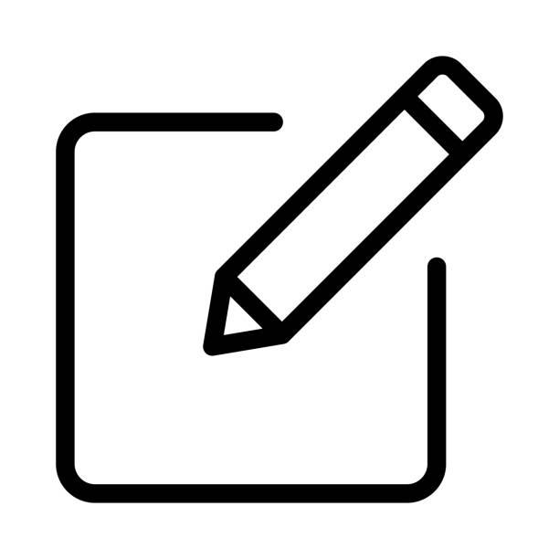 dünne linie vektor-icons bearbeiten - korrekturlesen stock-grafiken, -clipart, -cartoons und -symbole
