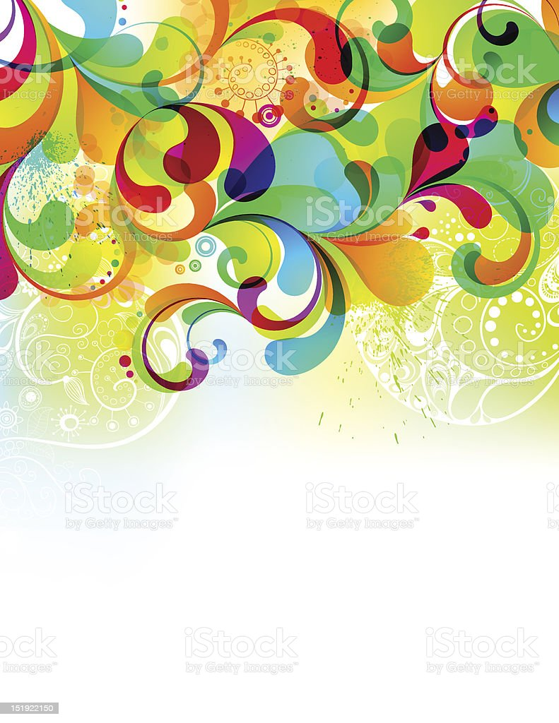 Editable cheerful background with hand drawm elements. EPS10 royalty-free stock vector art