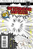 Editable comic book cover template.