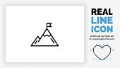 istock editable line icon of a mountain 1248287149