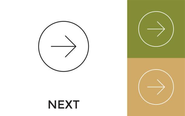 başlıklı sonraki i̇nce çizgi simgesini düzenlenebilir. mobil uygulama, web sitesi, yazılım ve baskı medyası için yararlıdır. - start stock illustrations