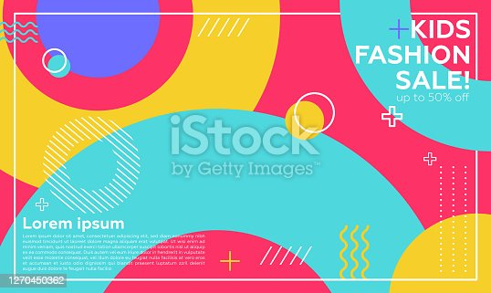 istock Editable Post Template Social Media Banners for Digital Marketing. Promotion Brand Fashion. Streaming. Kids concepts 1270450362