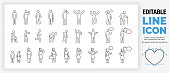 Editable set of stick figures