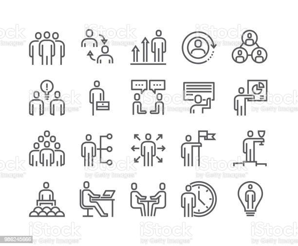 Editable Simple Line Stroke Vector Icon Setbusiness Office Related People Meeting Winner Teamwork Presentation Conversation Employment48x48 Pixel Perfect Stock Illustration - Download Image Now