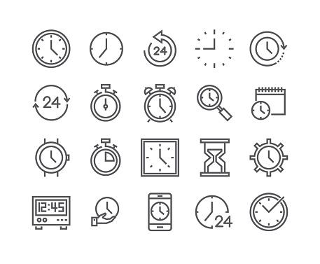 Modifiable De Ligne Simple Avc Vector Icon Set Contient Des Icônes Comme Minuterie Vitesse Alarme Restauration Gestion Du Temps Calendrier Smartwatch Sablier Et Bien Plus Encore 48 X 48 Pixels Parfait Vecteurs libres de droits et plus d'images vectorielles de Abstrait