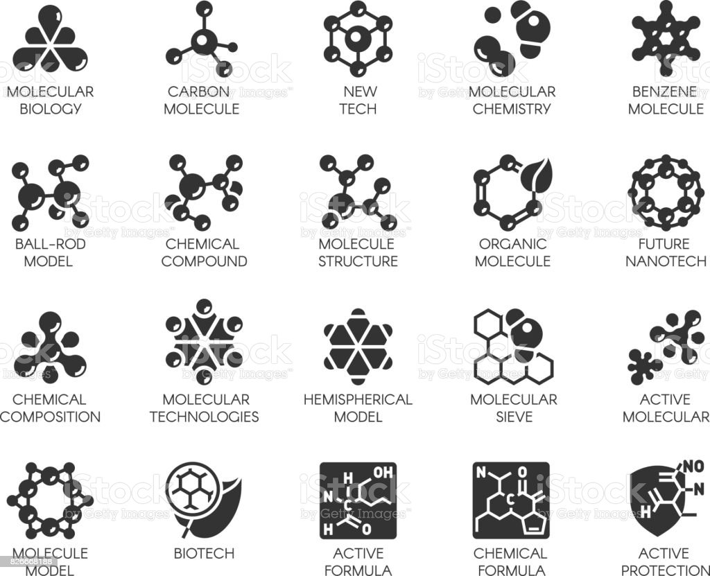 Editable Stroke. 48x48 Pixel Perfect 20 icons in flat style for scientific, chemistry, physical, medical, educational projects. Vector abstract black logo isolated vector art illustration