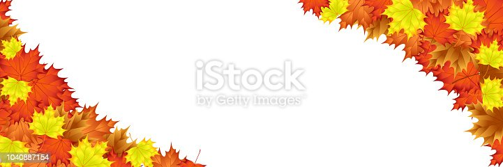 Editable Template With Autumn Leaf Motif Everything On Layers On A ...