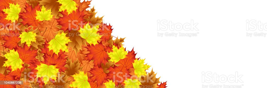 editable template with autumn leaf motif everything on layers on a