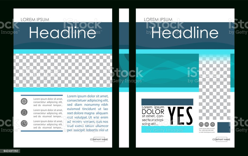 Editable Vector A4 Business Book Cover Layout Design Template For ...