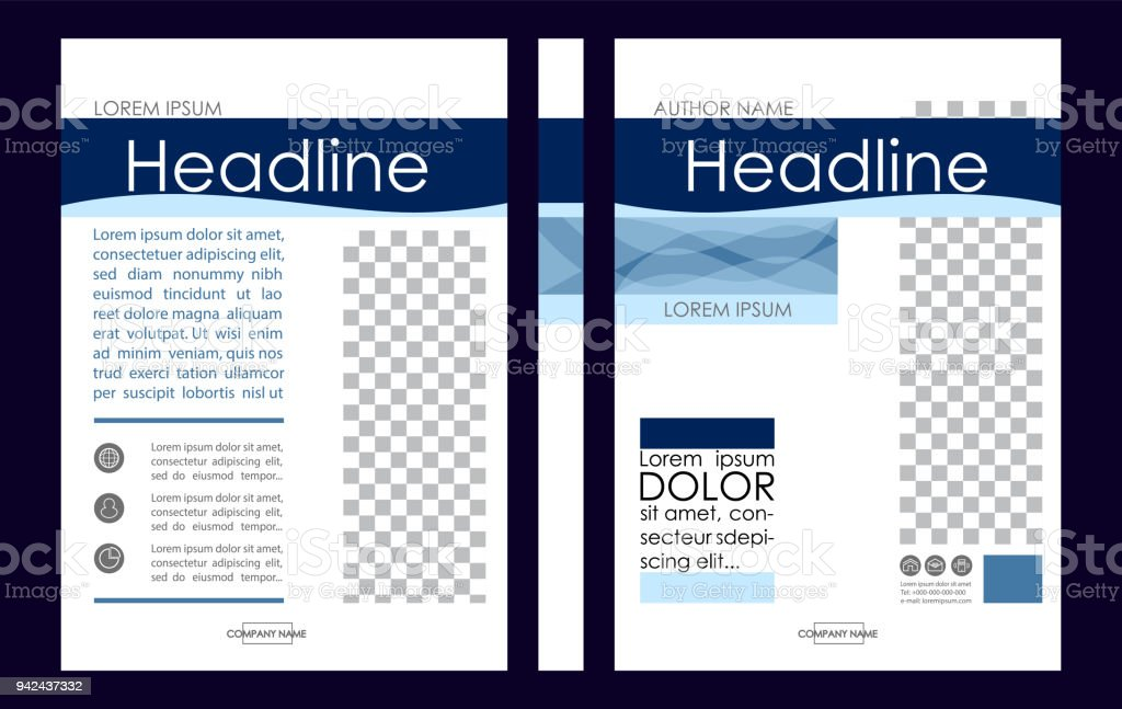 Editable Vector A4 Business Book Cover Layout Design
