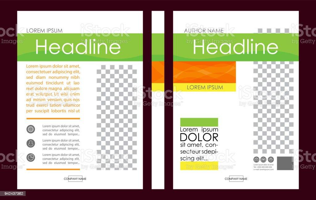 Editable vector a4 business book cover layout design template for a4 business book cover layout design template for portfolio brochure annual maxwellsz