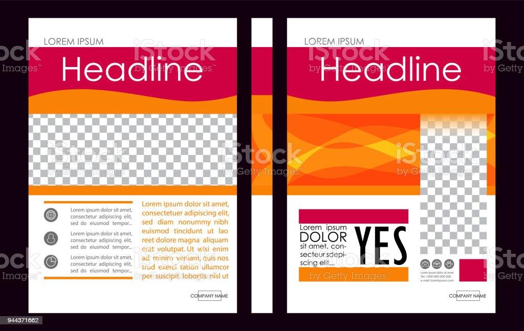 Ilustración de Vectoriales Editables A4 Negocios Libro Cubierta ...