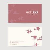 editable vector business card template