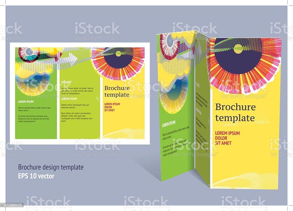 Editable z-fold brochure template royalty-free stock vector art