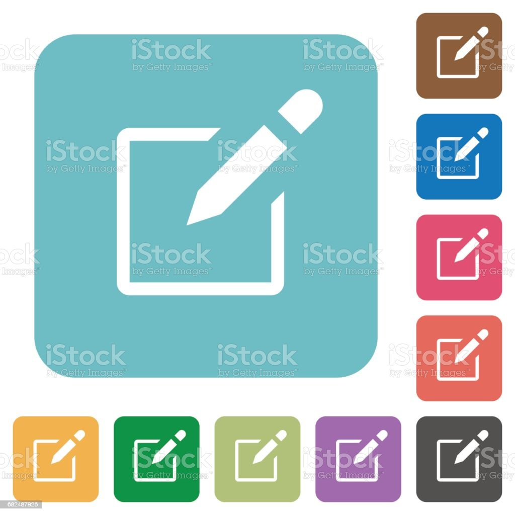 Editbox flat icons royalty-free editbox flat icons stock vector art & more images of applying