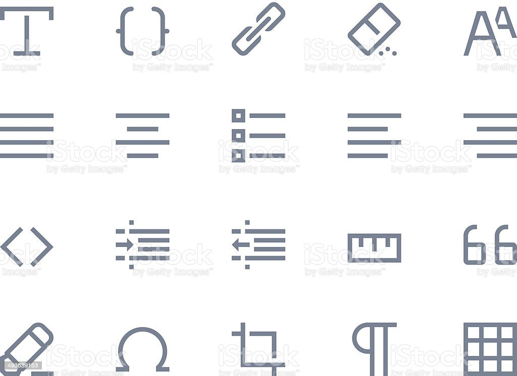 editing and formatting icons line series stock vector art more