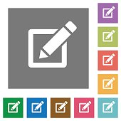 Editor square flat icons