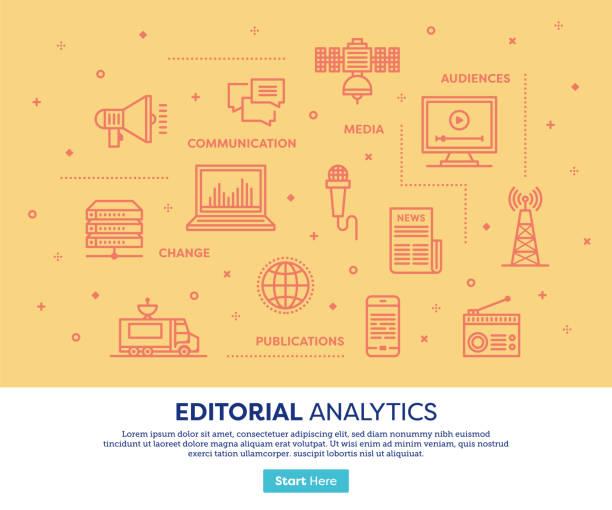 Redaktionelle Dienstleistungen-Konzept – Vektorgrafik