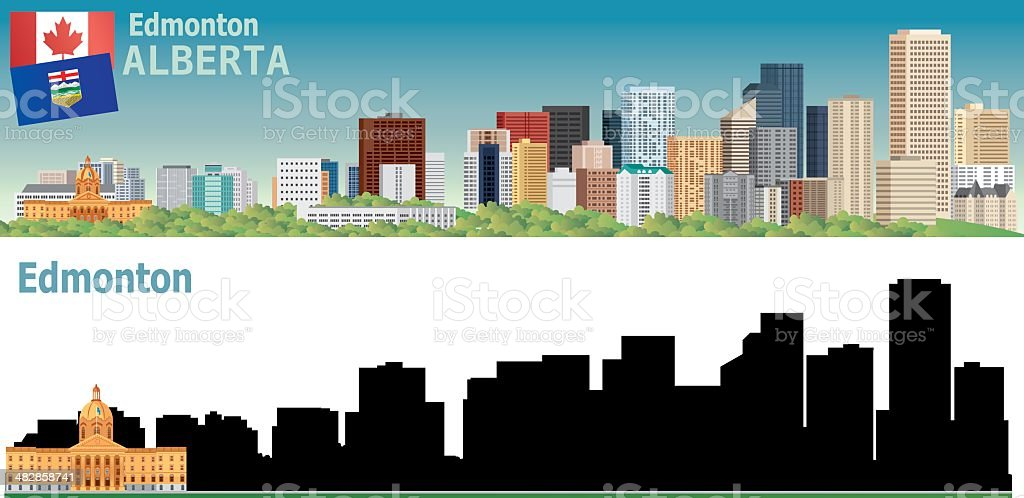 Edmonton vector art illustration