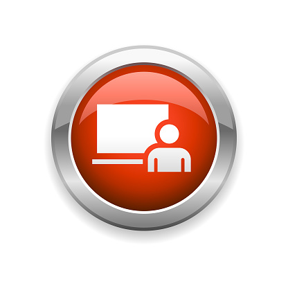 Education and Classroom Glossy Icon
