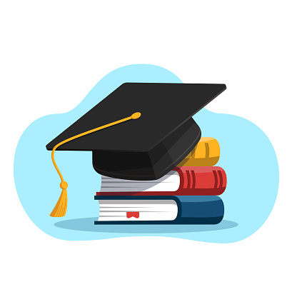 Education and graduation concept.