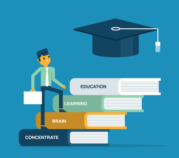 Education and knowledge vector art illustration