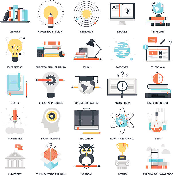 ilustraciones, imágenes clip art, dibujos animados e iconos de stock de la educación y de conocimientos - consejero de la escuela