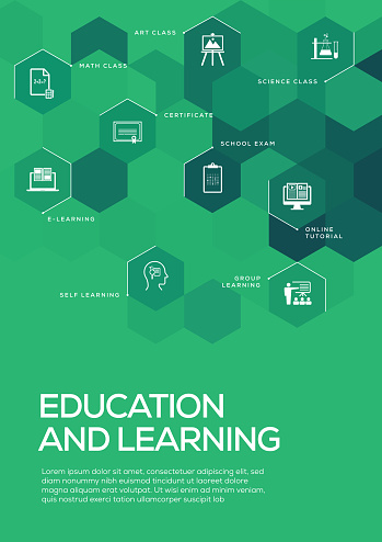 Education and Learning. Brochure Template Layout, Cover Design