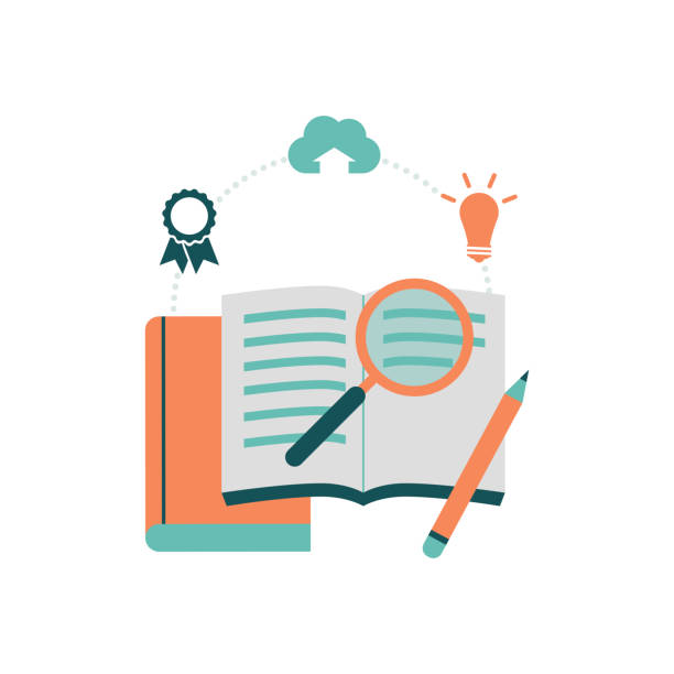 education and learning - homework stock illustrations