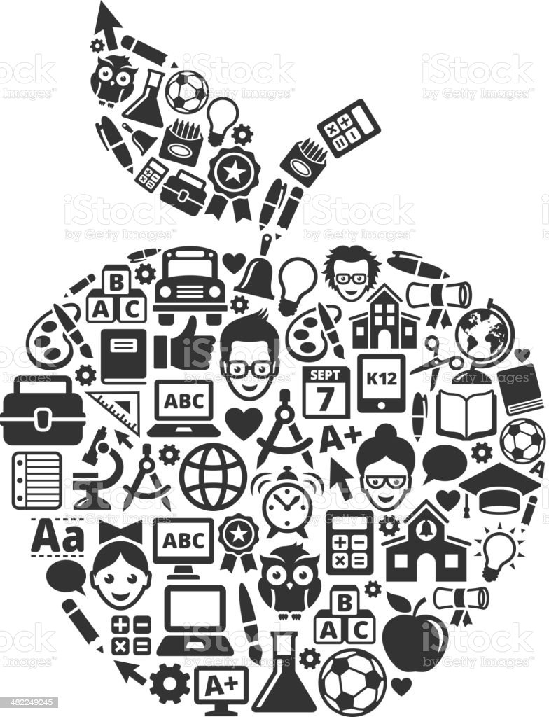 education and school and education in Apple Form royalty-free education and school and education in apple form stock vector art & more images of alphabet