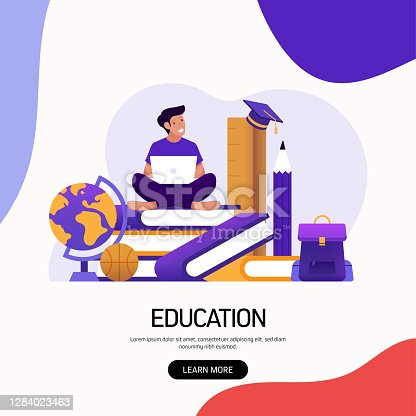 Education and School Concept Vector Illustration for Landing Page Template, Website Banner, Advertisement and Marketing Material, Online Advertising, Business Presentation etc.
