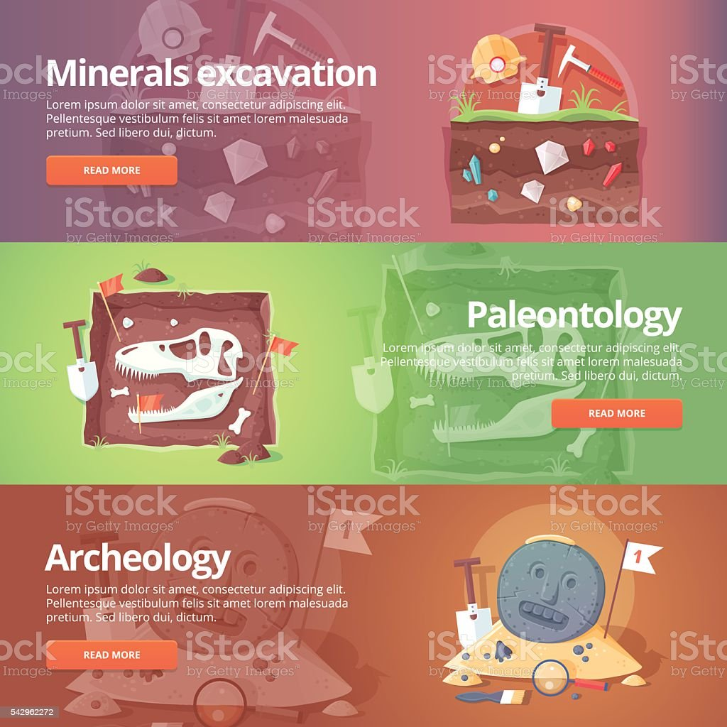 Education and science banners set. Vector design concept.