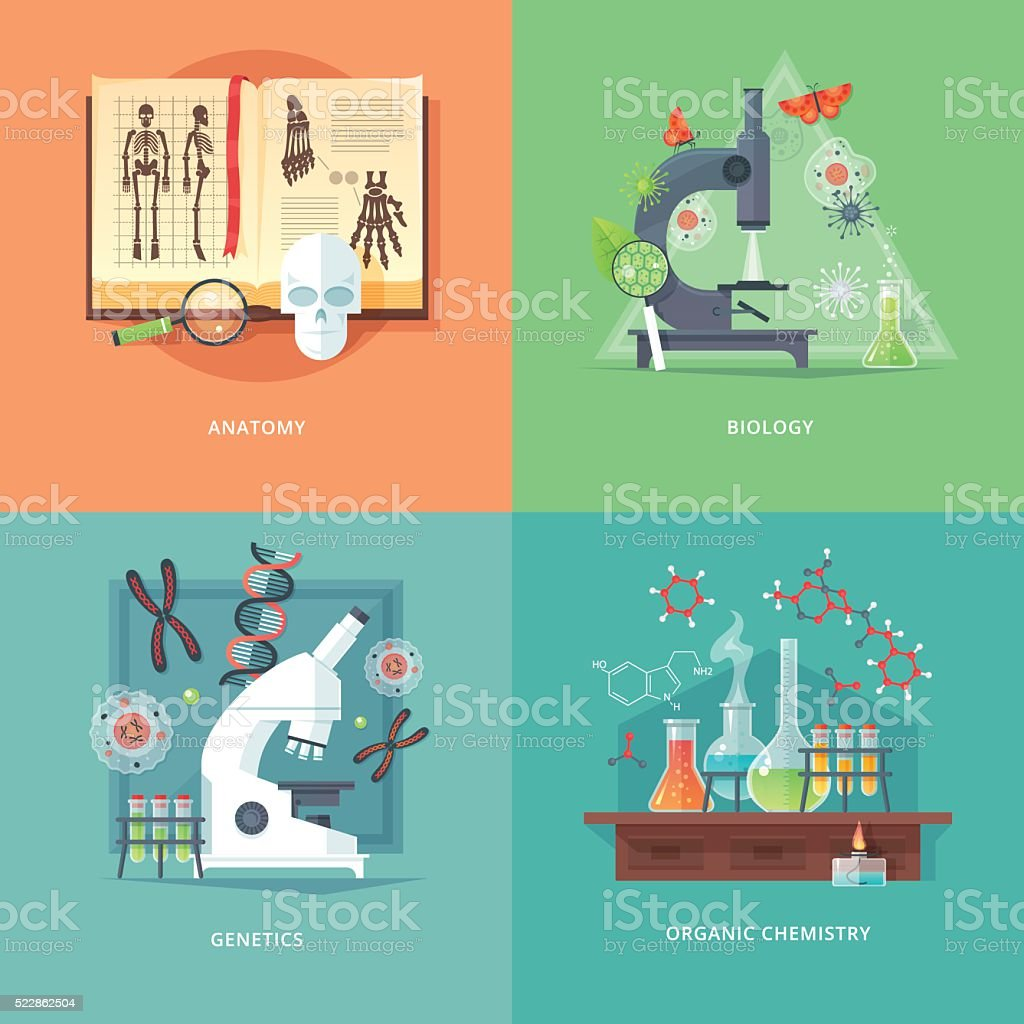 Ilustración de Concepto De Educación Y Ciencia De Ilustraciones ...