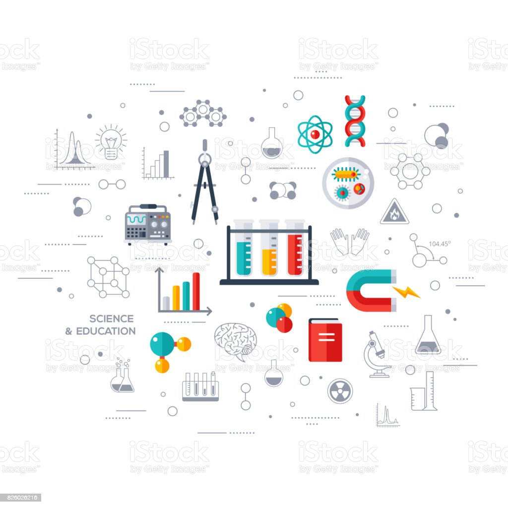 Education and science concept vector art illustration