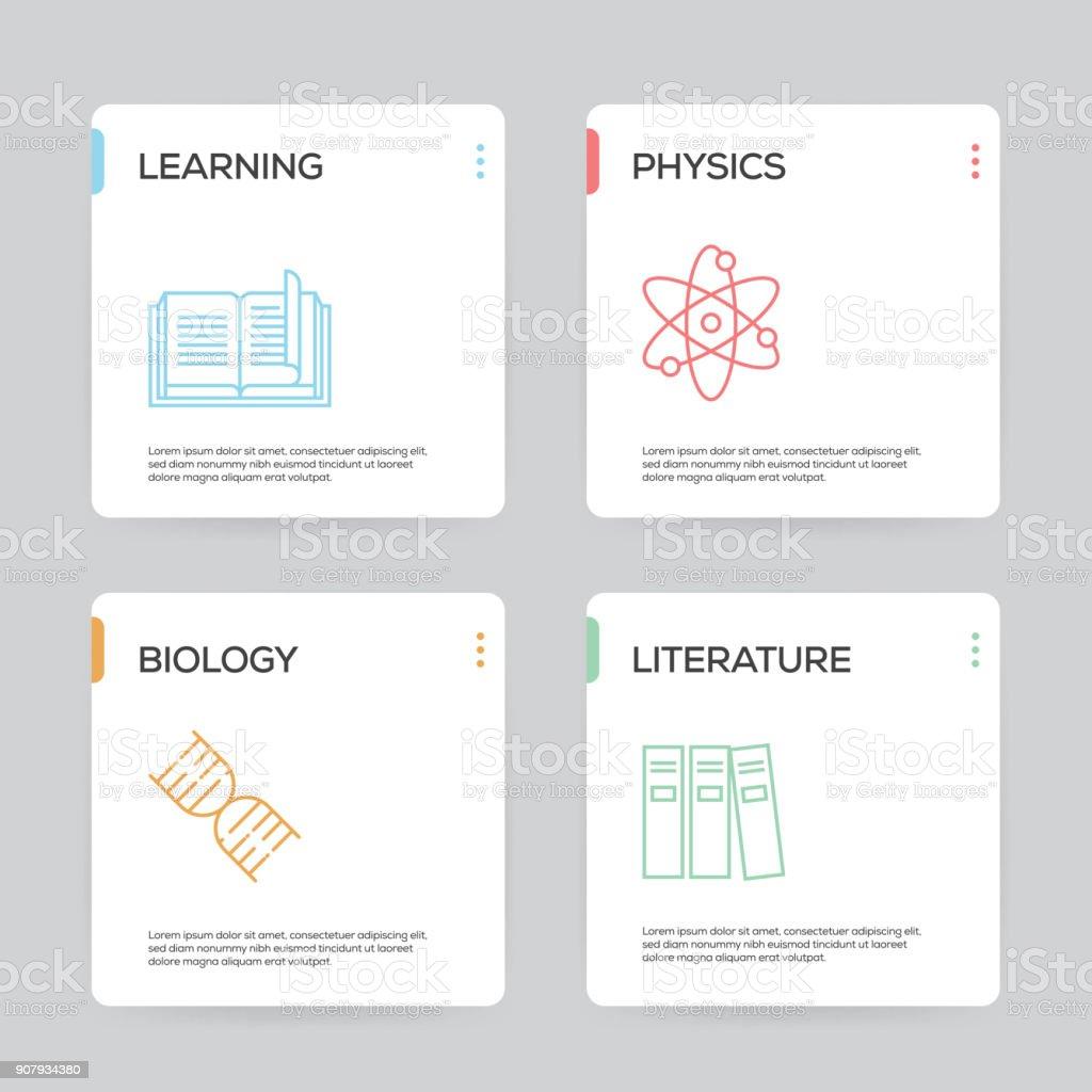 Bildung Und Wissenschaftinfografik Designvorlage Stock Vektor Art ...