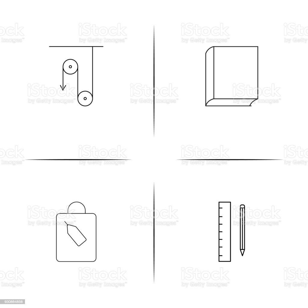 Bildung Und Wissenschafteinfache Lineare Iconset Einfache Gliederung ...