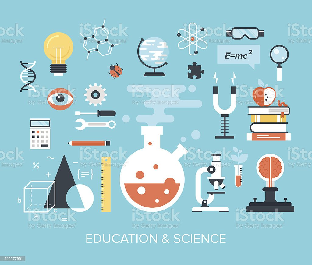Education and Science vector art illustration