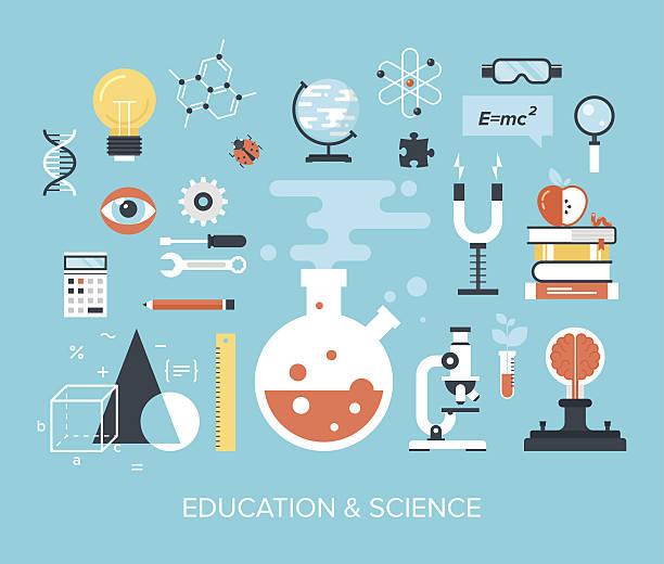 bildung und science - naturwissenschaftsunterricht stock-grafiken, -clipart, -cartoons und -symbole