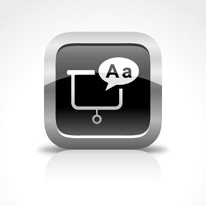 Education and Whiteboard Glossy Button Icon