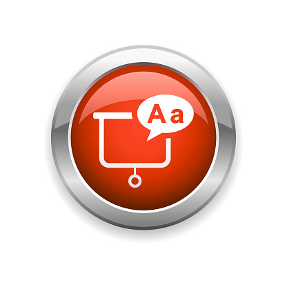 Education and Whiteboard Glossy Icon