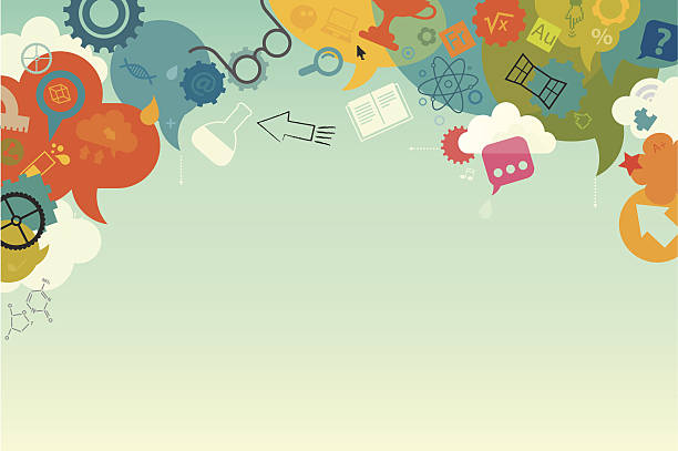 ilustraciones, imágenes clip art, dibujos animados e iconos de stock de fondo de educación - fondos escolares