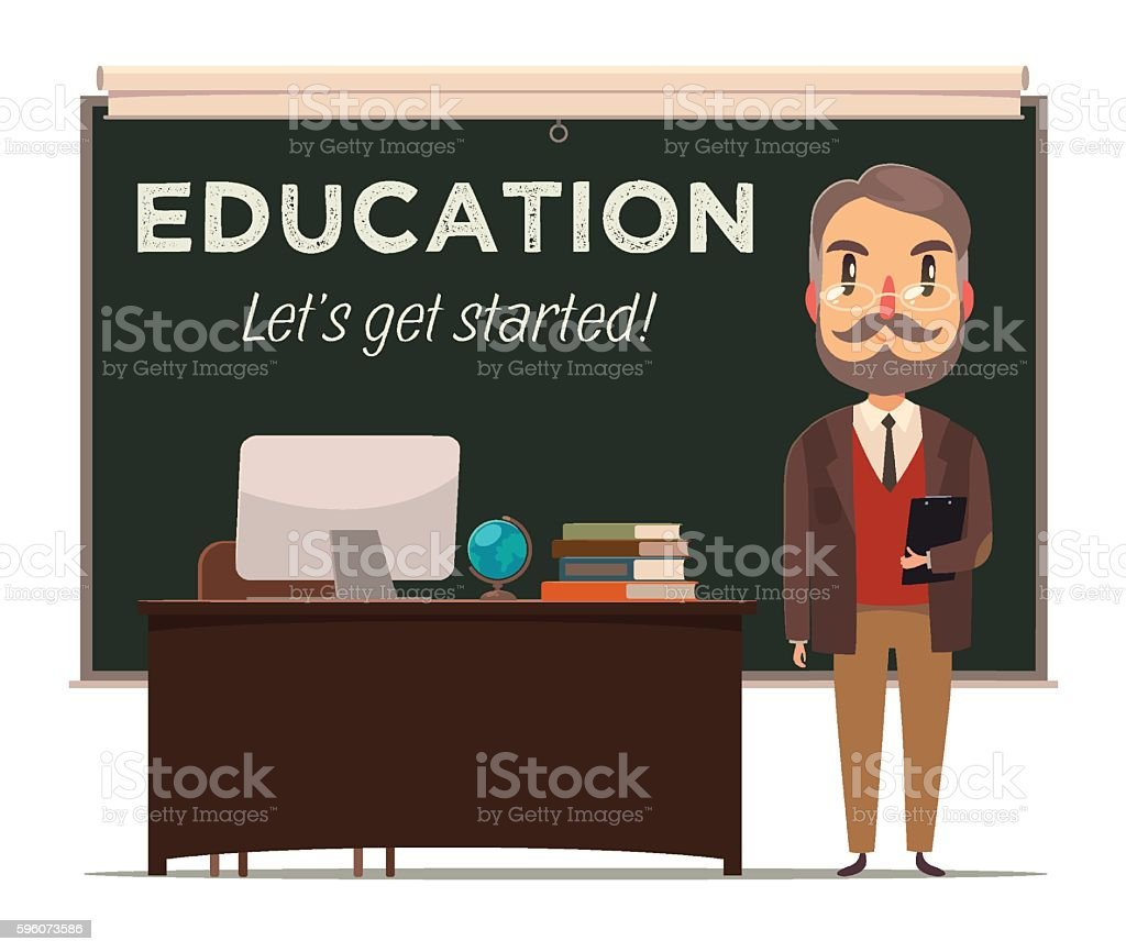 Education background. vector art illustration