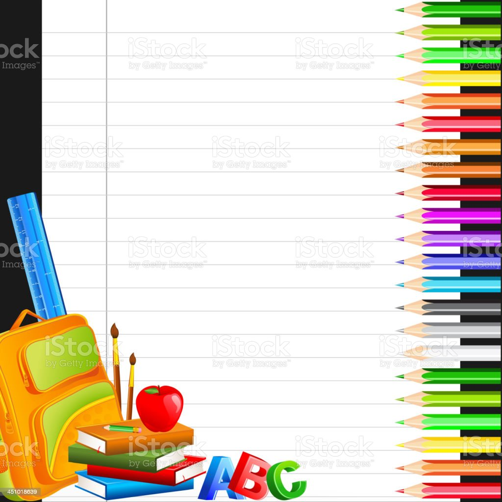 Education background with various types of colors royalty-free stock vector art