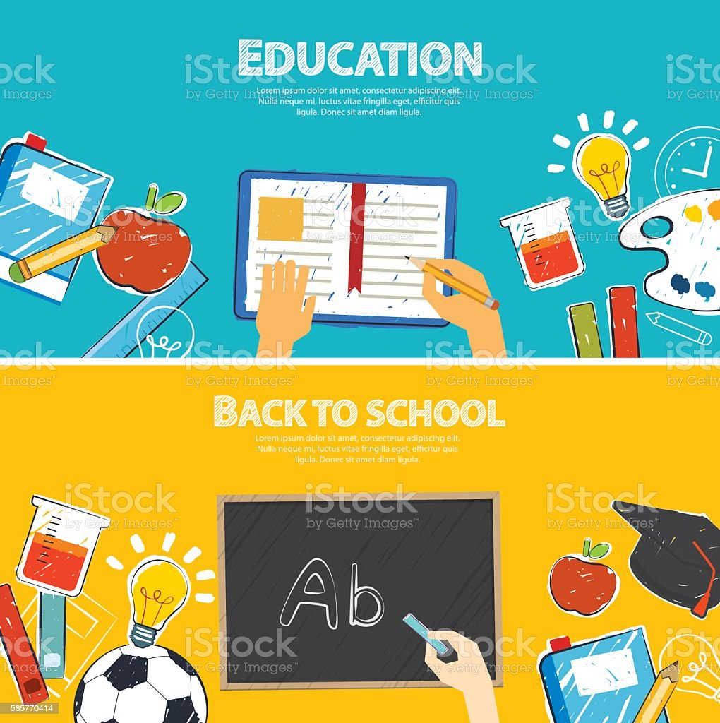 Education Banner And Back To School Background Template Stock Illustration Download Image Now Istock