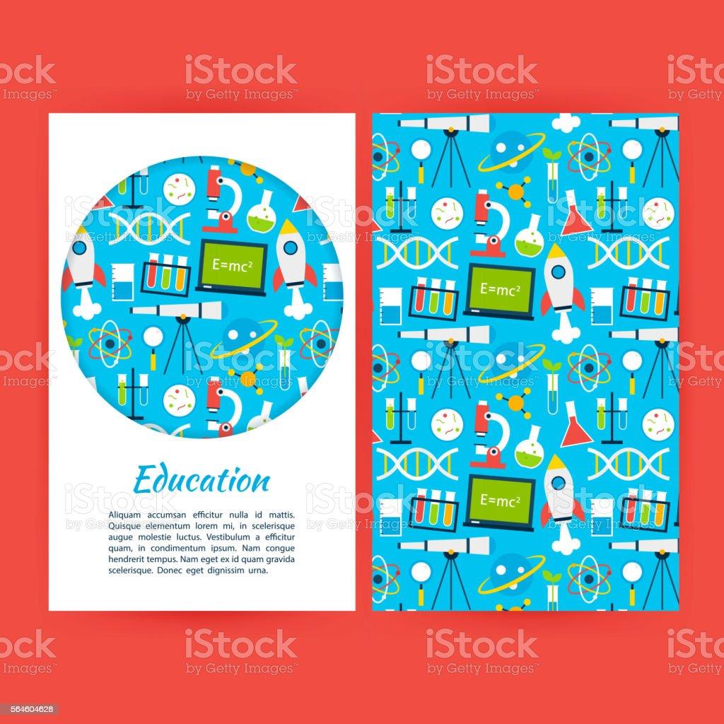 Education Banner Template vector art illustration