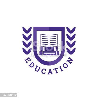 istock Education Book Logo. Vector design 1221128440