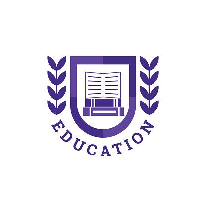 Education Book Logo. Vector design